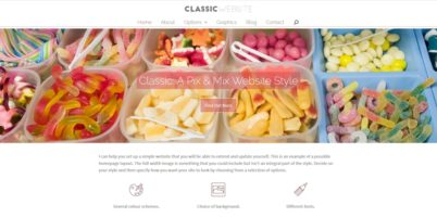 Pick and Mix Website Styles