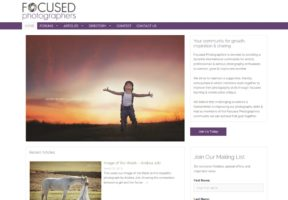 Website for Focused Photographers