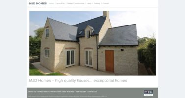 Website for MJD Homes