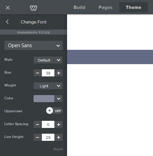 Weebly font options