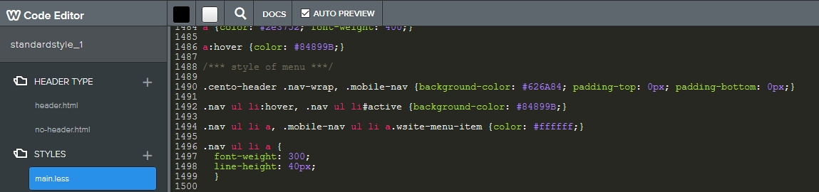 weebly css code example