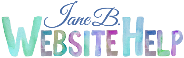 Jane B Website Help
