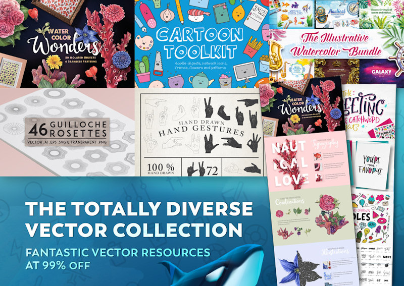 Review of Design Cuts' Totally Diverse Vectors Collection